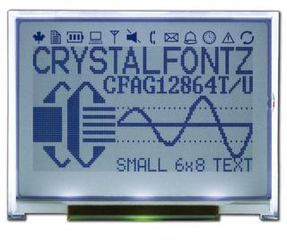 128x64 SPI Graphical LCD (CFAG12864U2-TFH)