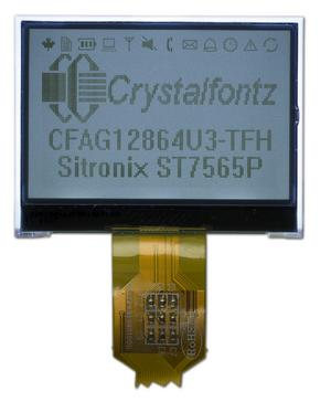 128x64 Backlit Low Power LCD (CFAG12864U3-TFH)