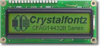 144x32 Sunlight Readable Graphic LCD (CFAG14432B-YYH-TT)