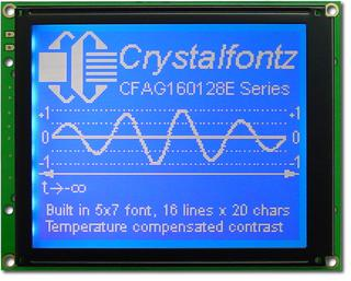 160x128  Parallel Graphic LCD (CFAG160128E-TMI-TZ)