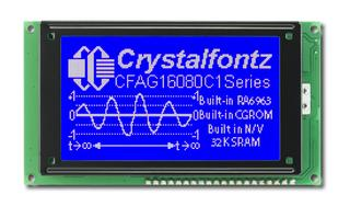 160x80  Parallel Graphic LCD (CFAG16080C1-TMI-TZ)