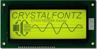 192x64  Parallel Graphic LCD (CFAG19264A-YYH-TN)