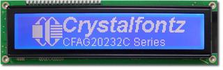 202x32 Parallel Graphic LCD (CFAG20232C-TMI-TT)