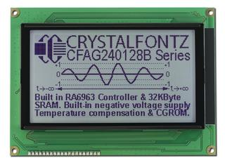Sunlight Readable 240x128 Graphic LCD (CFAG240128B-TFH-TZ)