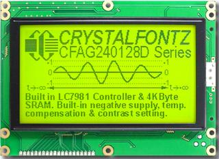 240x128  Parallel Graphic LCD (CFAG240128D-YYH-TZ)