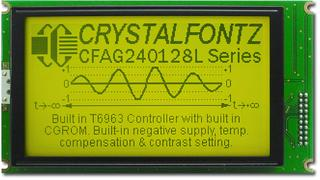 240x128  Parallel Graphic LCD (CFAG240128L-YYH-TZ)
