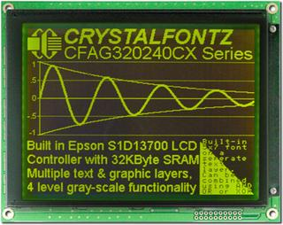 320x240  Parallel Graphic LCD (CFAG320240CX-YMI-T)