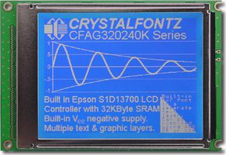 320x240  Parallel Graphic LCD (CFAG320240K-TMI-TZ)