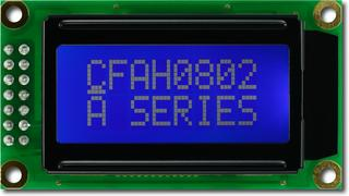 White on Blue 8x2 Character LCD (CFAH0802A-TMI-JT)