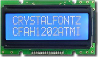 White and Blue 12x2 Character LCD (EOL) (CFAH1202A-TMI-JP)