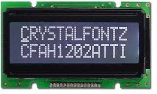 12x2 Parallel Character LCD (EOL) (CFAH1202A-TTI-JP)