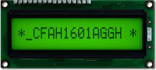 16x1 Character Sunlight Readable LCD (CFAH1601A-GGH-JT)