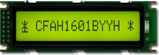 16x1 Sunlight Readable Character LCD (CFAH1601B-YYH-ET)