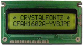 16x2  Parallel Character LCD (CFAH1602A-YYH-JPE)