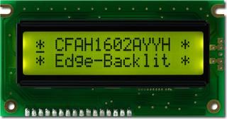 16x2 Sunlight Readable Character LCD (CFAH1602A-YYH-JTE)