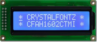 White on Blue 16x2 Character LCD (CFAH1602C-TMI-JT)