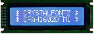 Blue and White 16x2 Character LCD (CFAH1602D-TMI-ET)
