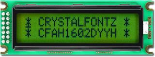 Sunlight Readable 16x2 Character LCD (CFAH1602D-YYH-ET)