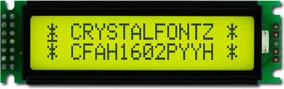 Sunlight Readable 16x2 Character LCD (CFAH1602P-YYH-ET)