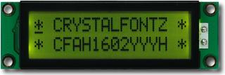 Yellow-Green 16x2 Character LCD (CFAH1602Y-YYH-ET)