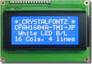 16x4  Parallel Character LCD (CFAH1604A-TMI-JP)