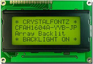 16x4  Parallel Character LCD (CFAH1604A-YYH-JP)