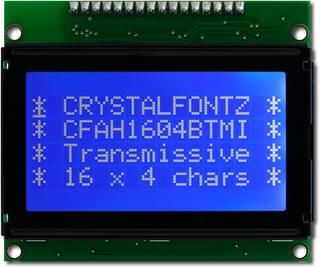 16x4  Parallel Character LCD (CFAH1604B-TMI-ET)