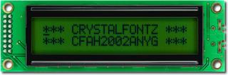 20x2  Parallel Character LCD (CFAH2002A-NYG-JT)