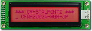 20x2 Red Character LCD (EOL) (CFAH2002A-RGH-JP)
