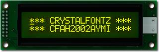 20x2  Parallel Character LCD (CFAH2002A-YMI-JT)
