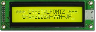 20x2  Parallel Character LCD (CFAH2002A-YYH-JP)