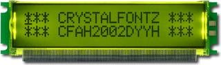 20x2  Parallel Character LCD (CFAH2002D-YYH-ET)