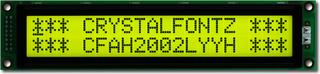 Sunlight Readable 20x2 Character LCD (CFAH2002L-YYH-ET)
