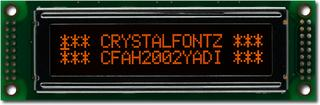 20x2  Parallel Character LCD (CFAH2002Y-ADI-ET)