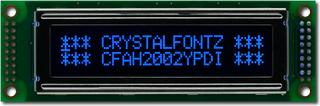 20x2  Parallel Character LCD (CFAH2002Y-PDI-ET)