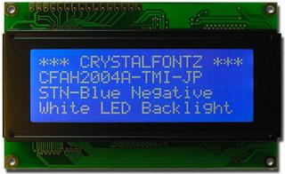 20x4  Parallel Character LCD (CFAH2004A-TMI-JP)