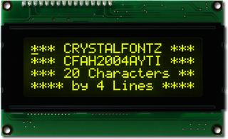 20x4  Parallel Character LCD (CFAH2004A-YTI-JT)