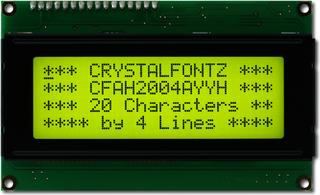 20x4  Parallel Character LCD (CFAH2004A-YYH-JT)
