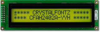 24x2  Parallel Character LCD (CFAH2402A-YYH-JP)