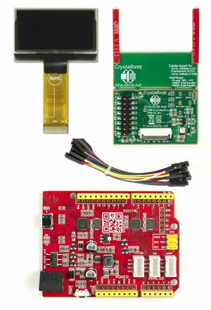 1.54 Inch White OLED Development Kit (CFAL12864D-0154M-W-E1-2)