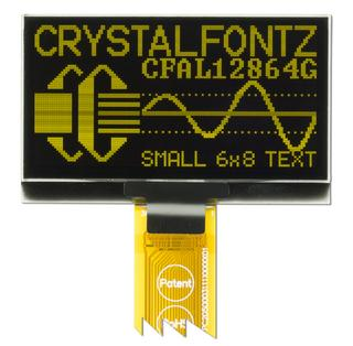 128x64 Yellow Graphic 2.4 inch OLED (CFAL12864G-024Y)