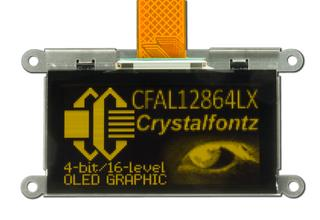 128x64 Graphic SPI OLED Display (CFAL12864LX-Y)