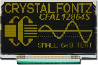 128x64 SPI Graphic OLED (CFAL12864S-Y-B1)