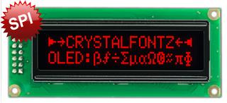 16x2 Red SPI Character OLED (CFAL1602C-PR)