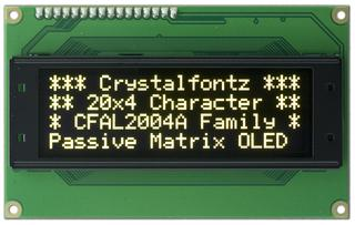20x4  Parallel Character OLED (CFAL2004A-Y)