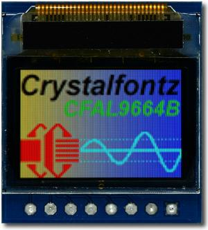 96x64 Graphic OLED with Carrier Board (CFAL9664B-F-B1-CB)