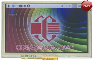 "5"" 800x480 RPi Compatible Display (CFAM800480A0-050R)"