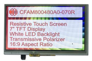 800x480 7 Inch TFT with Resistive Touch Screen (CFAM800480A0-070R)