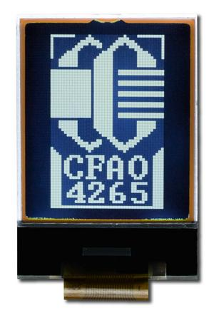 42x65 White on Dark Graphic LCD (CFAO4265A-TTL)