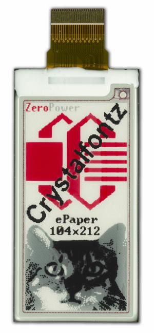 "ePaper Display - 2.13"", 3-Level Grayscale + Red (CFAP104212B0-0213)"